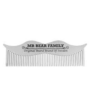 PETTINE DA BARBA ACCIAIO INOX MR BEAR FAMILY