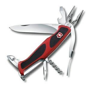 COLTELLINO MULTI USO VICTORINOX RANGER GRIP 74 RED BLACK 0.9723.C